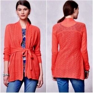 KNITTED & KNOTTED Winding Pointelle Cardigan